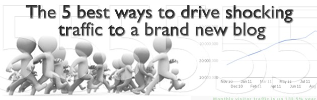The 5 best ways to drive shocking traffic to a brand new blog